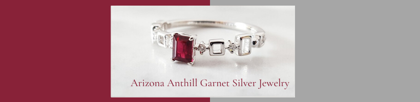Arizona Anthill Garnet Silver Jewelry