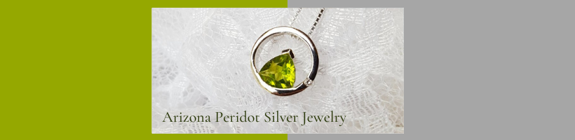 Arizona Peridot Silver Jewelry