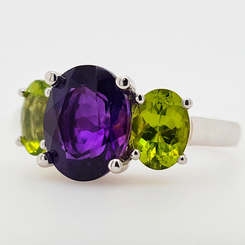 Arizona Amethyst And Peridot Ring